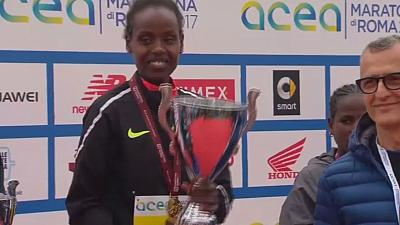 Ethiopian athletes win men and women's Rome marathon