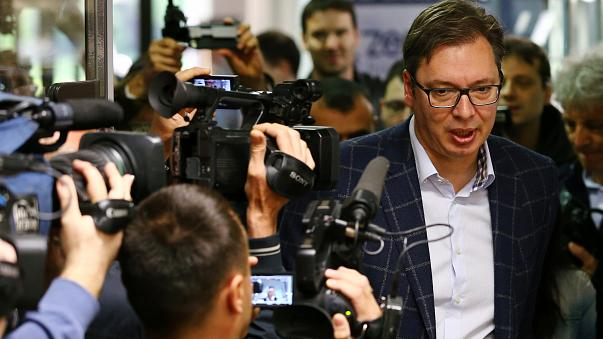 Serbia PM Vucic wins presidential poll by a landslide
