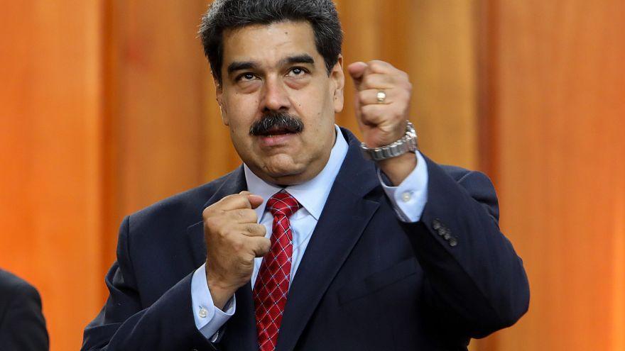 Image: Press conference of Nicolas Maduro in Caracas