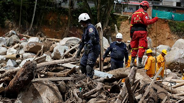 Death toll rises in Colombia mudslide