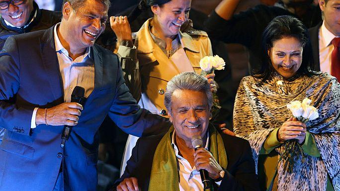 Moreno claims victory in Ecuador election but rival calls for a recount