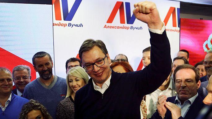 Aleksandar Vučić miniszterelnök nyerte a szerb elnökválasztást