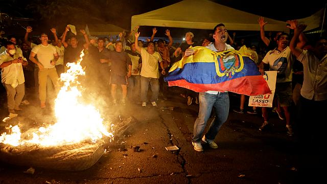 Clashes in Ecuador as presidential election disputed