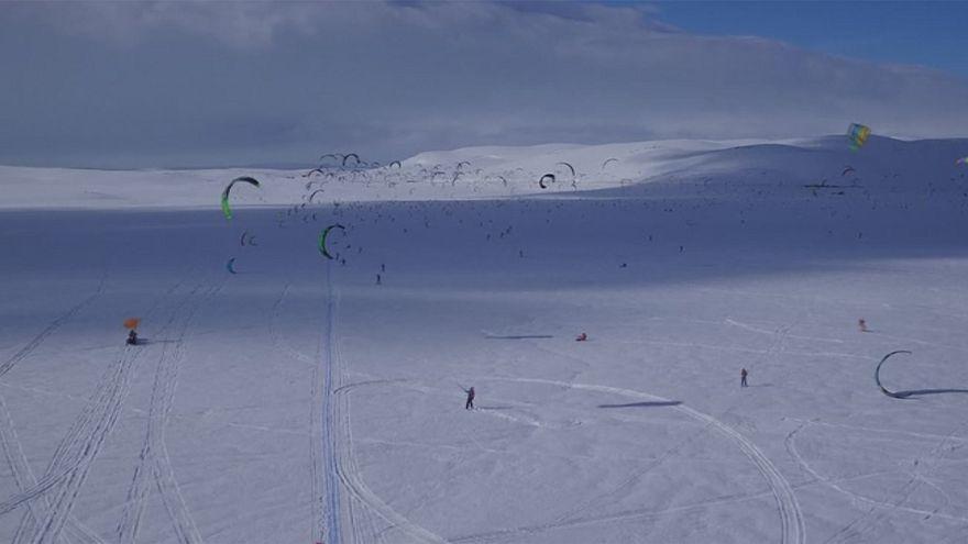 Norvegia: la gara di snowkite più lunga di sempre