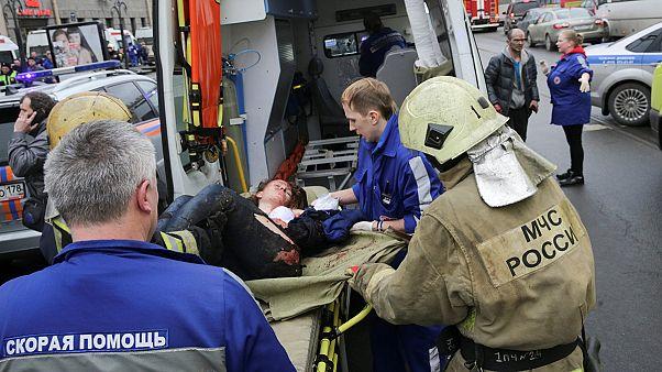 Diez muertos por la explosión de una bomba en el metro San Petersburgo