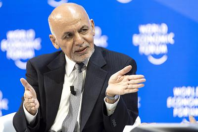 Afghanistan\'s president Mohammad Ashraf Ghani attends a plenary session in the Congress Hall at the 49th annual meeting of the World Economic Forum in Davos, Switzerland, on Jan. 24, 2019.