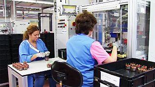 Промышленное производство в еврозоне на подъеме