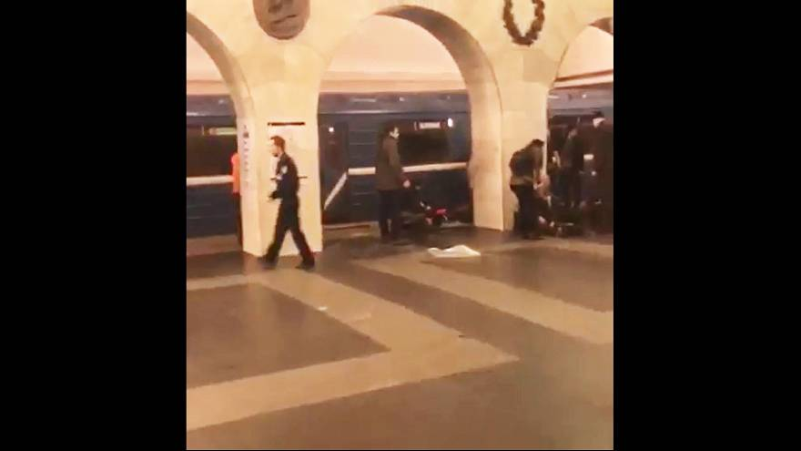 Amateur video purports to show the moments after St Petersburg metro blast