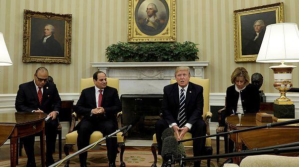 نخستین دیدار رسمی عبدالفتاح السیسی و دونالد ترامپ در کاخ سفید
