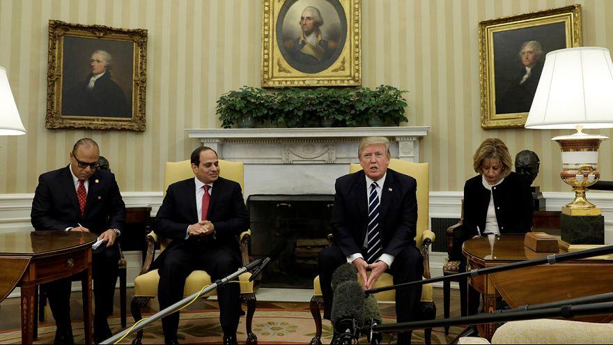 Trump e al-Sisi trocam elogios na Casa Branca