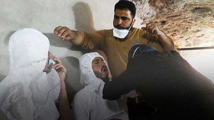 Aktivisten melden Giftgasangriff in Syrien: Mindestens 58 Tote, darunter 11 Kinder.