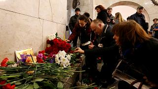 Russia pays tribute to St Petersburg metro bomb attack victims