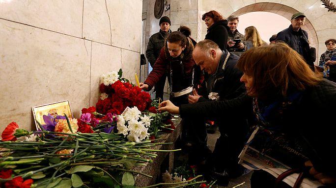 Rússia chora vítimas do atentado de São Petersburgo