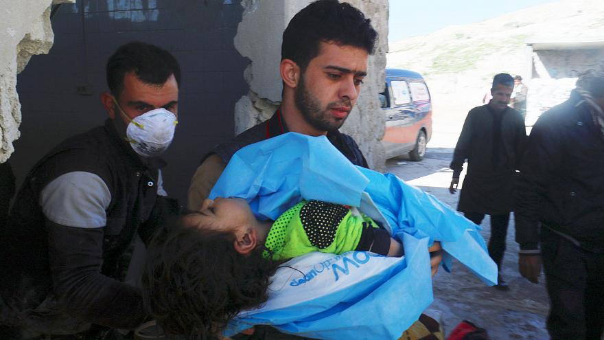 International outrage at Syria 'gas attack'