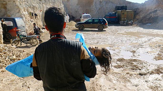 Giftgas-Vorfall in Syrien: Russland macht Rebellen-Vorräte verantwortlich