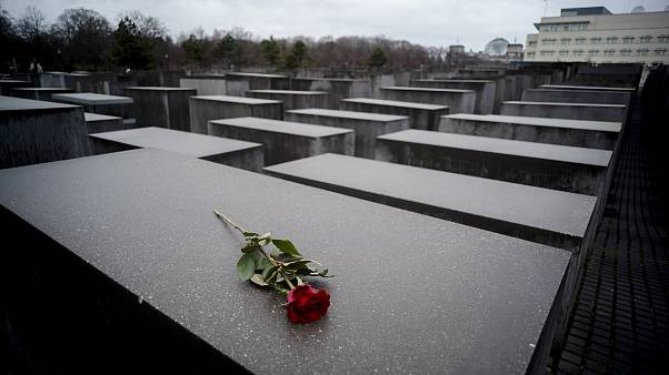 Image: The Holocaust Memorial in Berlin on Jan. 27, 2019.