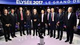 """مناظرة ساخنة جَمعتْ المرشحين الـ: 11 للانتخابات الرئاسية في فرنسا...مُولُونْشَانْ كان """"الأكثر إقناعا"""""""