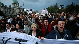 Third day of protests in Serbia against Vucic victory
