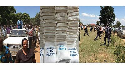 Uganda police stops opposition food aid distribution with tear gas, 2 injured
