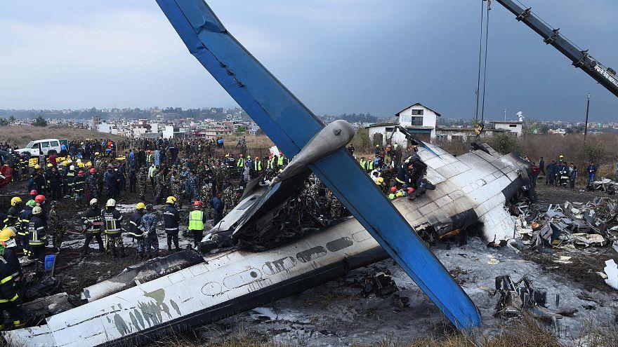 Image: Scene of 2018 plane crash in Kathmandu, Nepal