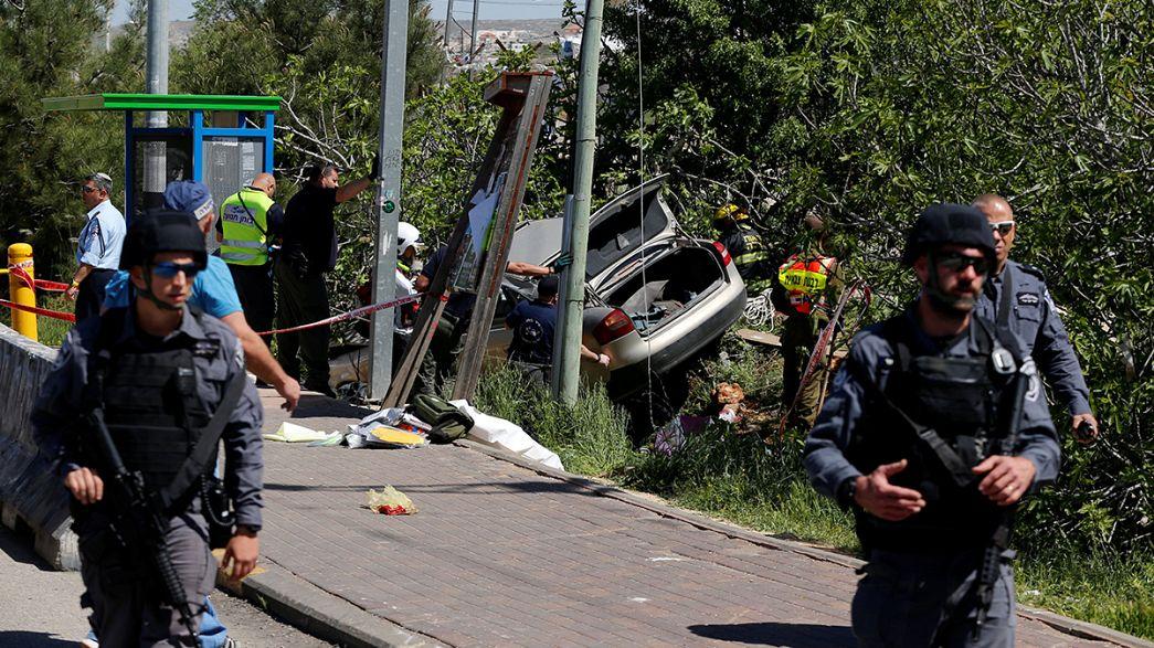 هدایت خودرو به ایستگاه اتوبوس در رام الله یک کشته برجاگذاشت