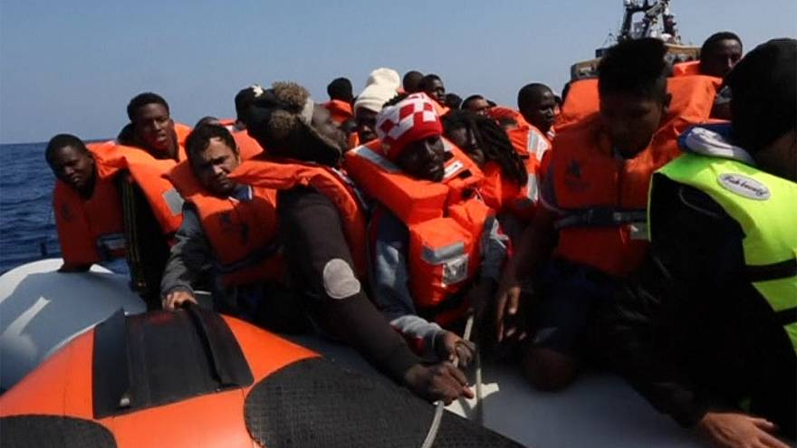 Hundreds rescued in the Mediterranean sea