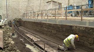 Ókori régészeti leletre bukkantak a római metró építése közben
