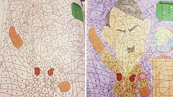 هولندا:سحب كتب تلوين للأطفال فيها رسم لهتر