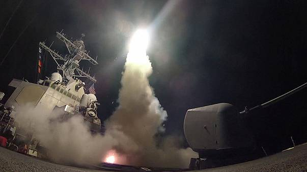 US missiles strike Syria airbase 'in response to chemical attack'