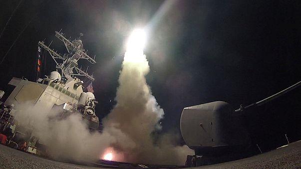 ABD Suriye'de Şam rejimine ait üssü vurdu