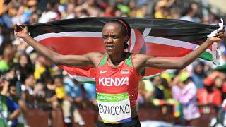 Kenyan marathon champ Jemima Sumgong tests positive for doping
