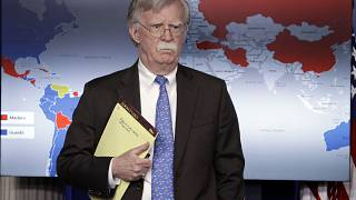 Image: National Security Adviser John Bolton at a press briefing at the Whi
