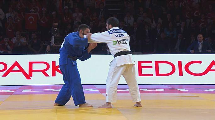 Uzbekistan's Mirzahid Farmonov gets the gold on second day of Antalya Grand Prix
