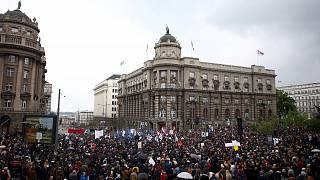 В Белграде прошла массовая антиправительственная демонстрация