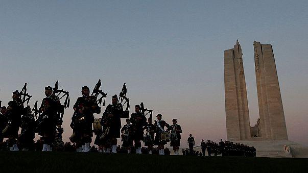 Homenaje a los soldados canadienses caídos en la batalla de Vimy hace 100 años