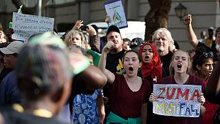 South Africans hold anti-Zuma protest in London