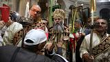 Kudüs Kutsal Kabir Kilisesi'nde 'Palmiye Pazarı' ayini
