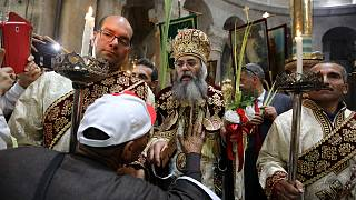 Palm Sunday in Jerusalem's Holy Sepulchre