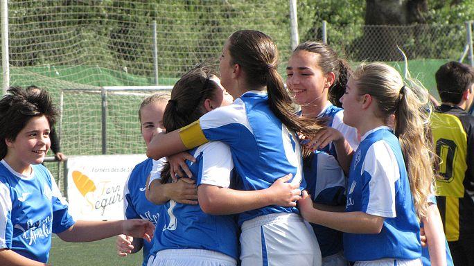 O futebol é um jogo para meninas