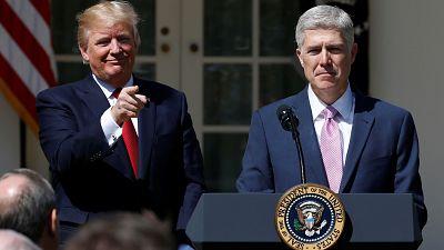 Donald Trump se réjouit de Neil Gorsuch à la Cour suprême