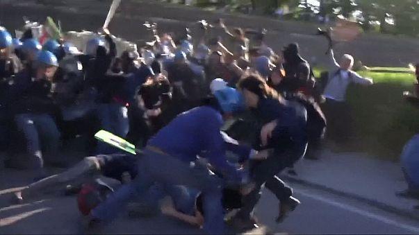 G7: scontri fra polizia e manifestanti a Lucca