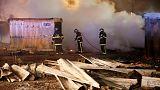 حريق بمخيم للاجئين شمال فرنسا