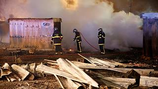 Fire sweeps through Dunkirk migrant camp