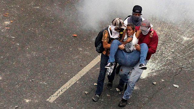 Violentas protestas antigubernamentales en Venezuela
