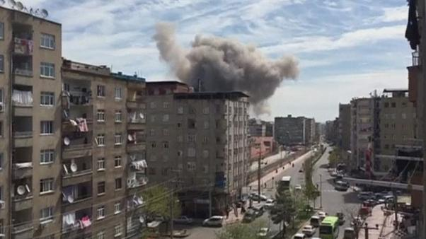 انفجاری شهر دیاربکر در شرق ترکیه را لرزاند