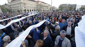 Budapest: Proteste gegen Hochschulgesetz, Großkundgebung am Mittwoch