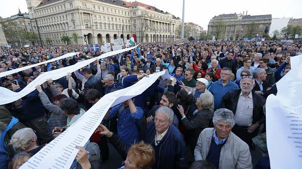Protests in Hungary after president signs new university law