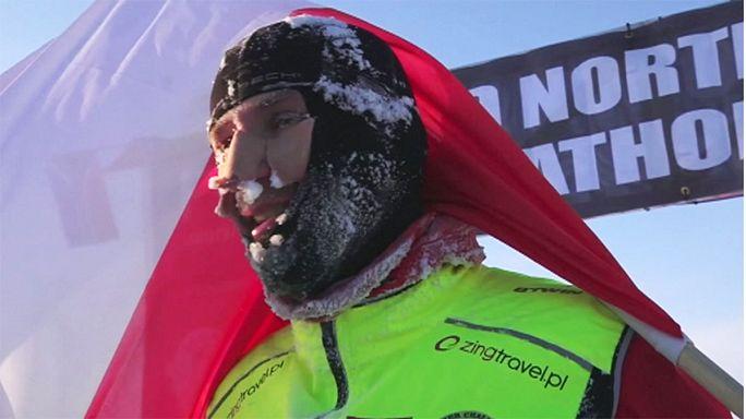 Dünyanın en soğuk koşusunda şampiyon Piotr Suchenia