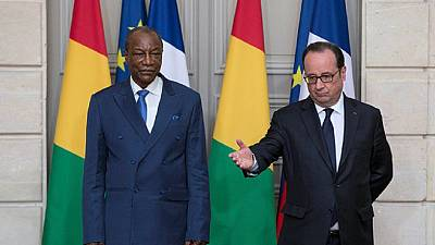 Hollande reaffirms support for Africa, as Conde visit France