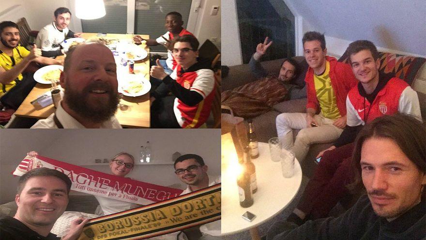 Dortmund fans offer beds to stranded Monaco supporters